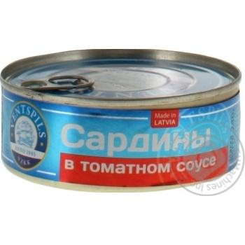 Сардины Ventspils в томатном соусе 240г - купить, цены на Novus - фото 3