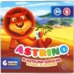 Пластилин школьный Astrino 6 цветов