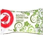 Серветки вологі Ашан з ароматом білого чаю 15шт