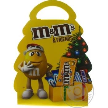 Набор подарочный M&M's & Friends Новогодняя елка 105г - купить, цены на Novus - фото 2