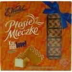 Конфеты E.Wedel Птичье молоко из белого шоколада с карамельной начинкой 380г