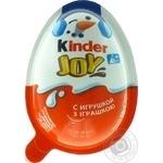 Яйцо Kinder Joy Новогоднее шоколадное с хрустящими вафельными шариками с игрушкой 20г