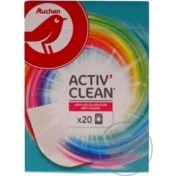 Серветки Ашан Пастка-кольору 20шт - купити, ціни на Ашан - фото 2