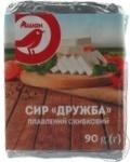 Cheese Auchan Druzhba processed 45% 90g