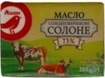 Butter Auchan salt 73% 200g