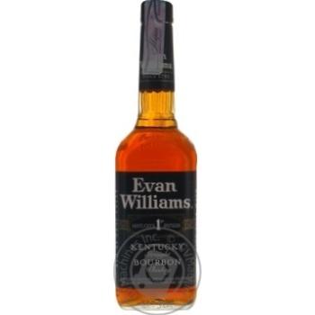 Бурбон Evan Williams Black 43% 0,75л - купити, ціни на МегаМаркет - фото 1