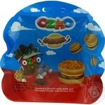 Ozmo Burger Sandwich Biscuit with milk and chocolate cream and crispy rice 40g
