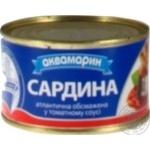 "САРДИНА ОБСМАЖЕНА ТМ""АКВАМАРИН"" В ТОМАТНОМУ СОУСІ 230ГР"