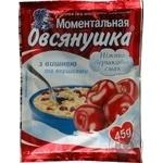 Каша овсяная Овсянушка с сахаром вишней и сливками быстрого приготовления 45г