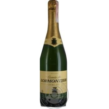 Вино ігристе Mousseux Lormontiers Brut біле напівсухе 11% 0.75л