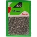 Paper clips Auchan Auchan 120pcs