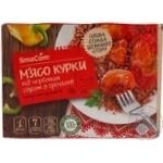 М'ясо курки SmаCom під червоним соусом з гречкою заморожене 350г