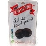 Diva Oliva Pitted Black Olives 200ml