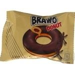 Brawo Glazed Donut with cocoa filling 50g
