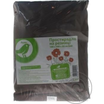 Простынь Ашан на резинке коричневая, 180х200х20см - купить, цены на Ашан - фото 3