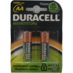 Батарейки акумуляторні Duracell AA 1300mAh 2шт HR6