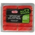 Крабові палички VICI з м'ясом натурального краба охолоджені 250г
