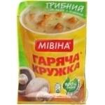 Суп-пюре грибной Мивина Горячая кружка с гренками 15г