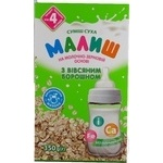 Malysh for children with oat flour dry mix milk 350g