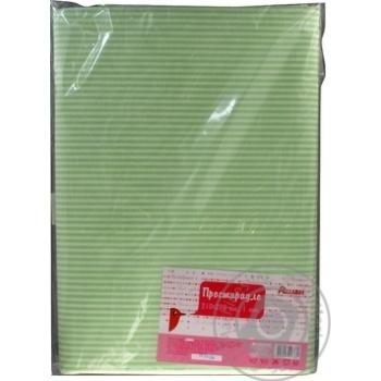 Простыня Ашан зеленая 210x200см - купить, цены на Ашан - фото 3