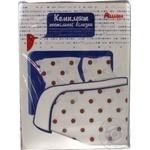 Комплект Ашан постельного белья полуторный голубой