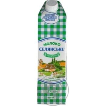 Молоко Селянське ультрапастеризоване 1.5% 950г