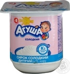 Сирок Агуша солодкий 4.1% для дітей з 8 місяців 100г