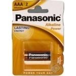 Батарейки Panasonic LR03 Alkaline Power ААА 2шт
