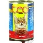 Food Teo with beef for cats 415g