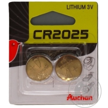 Auchan Alkaline Batteries CR2025 3V 2pc - buy, prices for Auchan - photo 1