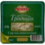 Cottage cheese President Cottage cheese tradition 9% 450g