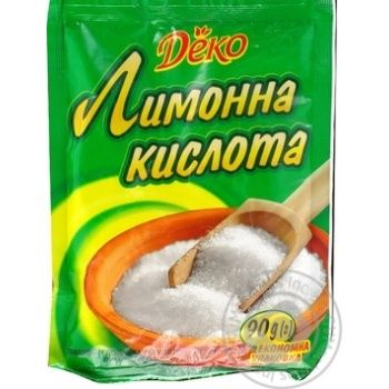 Лимонная кислота Деко 90г - купить, цены на МегаМаркет - фото 1