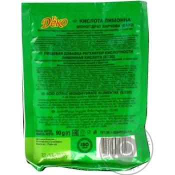 Лимонна кислота Деко 90г - купити, ціни на МегаМаркет - фото 6