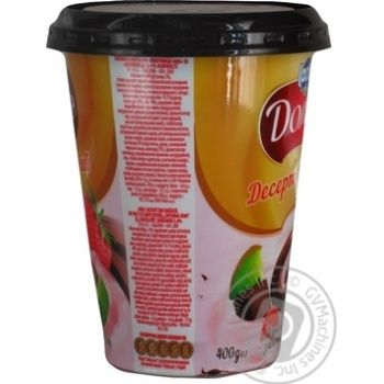 Десерт творожный Дольче клубника-киви с шоколадом 3,4% 400г - купить, цены на ЕКО Маркет - фото 2