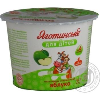 Паста творожная Яготинское для детей яблоко с 6 месяцев 4.2% 100г - купить, цены на Novus - фото 2