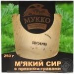 Сир м'який Мукко з пряними травами 250г - купити, ціни на CітіМаркет - фото 1