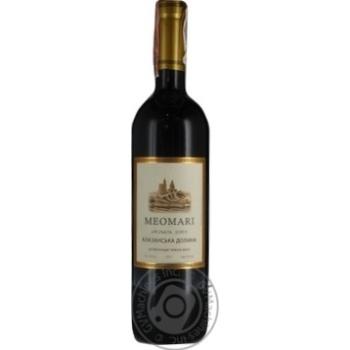 Вино Meomari Алазанская долина красное полусладкое 14% 0,75л