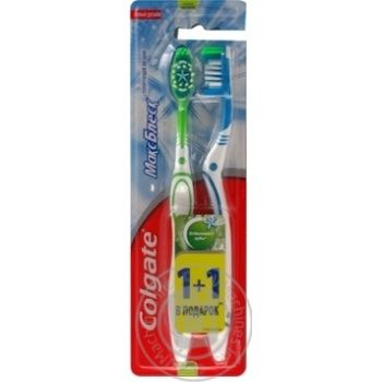 Colgate Max Shine Medium Toothbrush 1+1pcs - buy, prices for Auchan - image 4