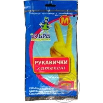 Gloves Dobra gospodarochka latex for home