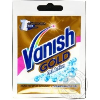 Пятновыводитель и отбеливатель порошкообразный для тканей Vanish Gold Oxi Action Кристальная белизна 30г