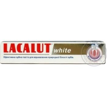 Зубна паста Lacalut Вайт 75мл