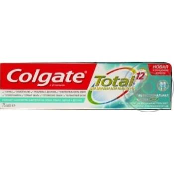 Зубная паста Colgate Total 12 Профессиональная чистка (гель) комплексная антибактериальная 75мл - купить, цены на Фуршет - фото 3