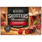 Конфеты шоколадные Roshen Shooters Вишня с вишневым ликером 150г