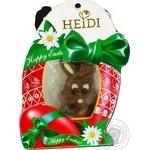 Фигурка шоколадная Heidi Зайчик мини пасхальный из молочного шоколада с наполнителем пралине 20г