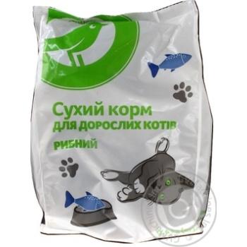 Сухой корм Ашан для взрослых котов рыбный 400г - купить, цены на Ашан - фото 2