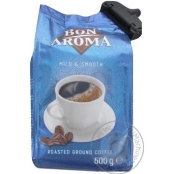 Кофе Bon Aroma натуральный молотый 500г - купить, цены на Фуршет - фото 1