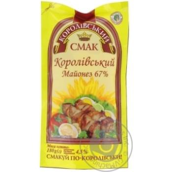Майонез Королевский Вкус Королевский 67% дой-пак 200г Украина