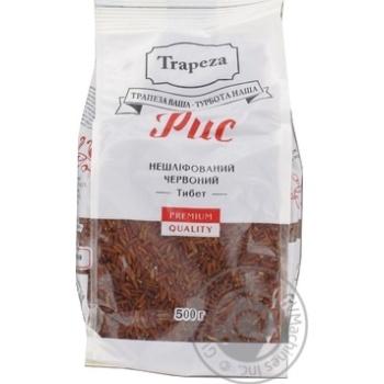 Рис нешлифованный красный Тибет Trapeza 500г