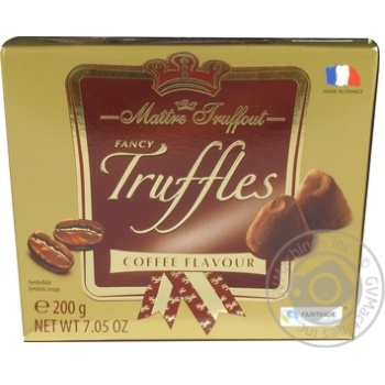 Maitre Truffout Fancy Trussles Candies with Coffee Flavor 200g - buy, prices for Furshet - image 1