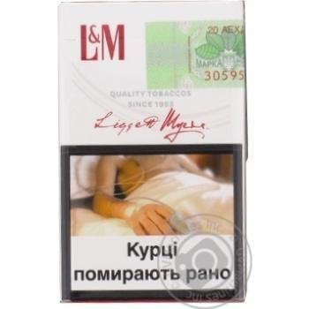 Сигареты L&M Red Label 20шт - купить, цены на Фуршет - фото 2